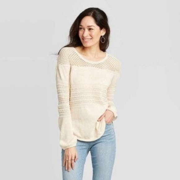 NEW Knox Rose oatmeal sweater - Small